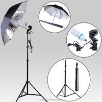 NEW PHOTOGRAPHIC EQUIPMENT 85 cm Reflective umbrella and Lamp Bulb Holder E27 Socket Flash Umbrella Bracke and 7ft. 200cm stands