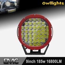 "P68 185W LED Light Bar 96w LED Light 9"" 96w Round LED Driving Light Auto led for cars led headlight bulb for motorcycles"
