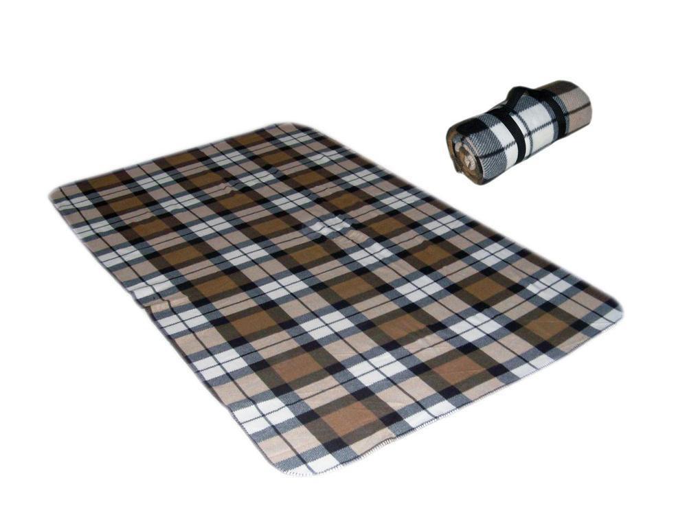 Super Clear Digital Print Fleece Waterproof Picnic Blanket