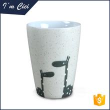 Custom giraffe pattern ceramic tea travel mug CC-C087