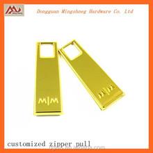fashion design custom metal zipper slider