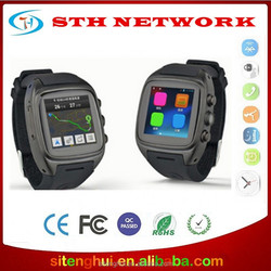 Wholesales OEM/ODM Smart Watch Phone Waterproof Android 4.4 GPS Wifi MTK6572 Dual Core Bluetooth cell phones 3G
