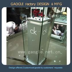 Tempered glass jewelry display furniture / jewelry display stand/ jewellery display showcase