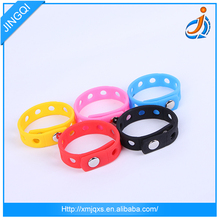Best selling promotional colorful OEM service silicone holes silicone energy bracelets in stock