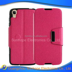 sheeny leather pu flip with kickstand case for alcatel one touch idol 3 4.7