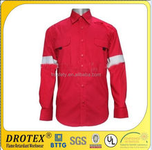 NFPA2112 NFPA 70 E 100% cotton FR shirt long seleeve fire retardant /flame retardant