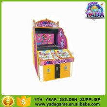 Coin operated funny balls pitching game machine