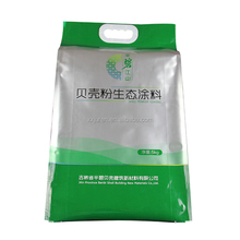 China manufacturer die cut handle plastic bag with quad seal