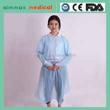 Dental doctor use water/blood-proof cpe gown plastic isolation gown