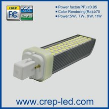 SMD3014 led pl lamp g24d 2-pin/G24q 4-pin/E26/E27 6w,13w cfl bulb replacement