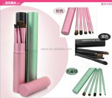 5pcs horse hair eyeshadow brush makeup tool kit /3 color stock