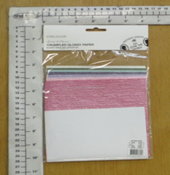 21PC CRUMPLED GLOSSY PAPER