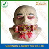 X-MERRY GHOUL Zombie Latex Face Mask Halloween Prop&Hooded Blood Skull Mask