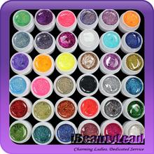 new coming 36 mix colors glitter uv gel nail uv gel set