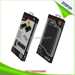 2015 China best blue blood bank equipment ,4000mAh Solar external battery pack