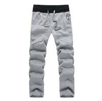 Мужские брюки осень новый мужской хлопок грузов прямо slim fit повседневные длинные брюки мужчины предназначены брюки мужского xxxl