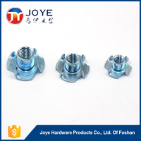 Furniture Fastener T Nut with four prongs