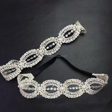 lovely cute pearl rhinestone elastic hairbands,Headband for girls