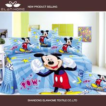 100% cotton Mickey Minnie Mouse design blue color boys morden bedroom sets