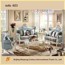 modern blue brand name hand made sofa set