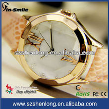 Snake skin material leather watch strap luxury watch
