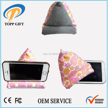Holds and cleans the mobile device Microfiber mobile phone holder