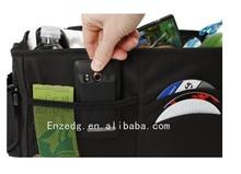 Black Auto Console Organizer,soft storage chest,black folding tunk organizer