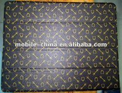 Skeleton lines PU leather and microfiber interior with the Plastic PC back cover case for ipad3