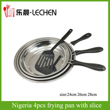 Factory Frying Pan With Slice Removable Handle Stainless Steel Fryer 3pcs/4pcs Bakelite Handle