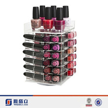 60 Comparment Manufacturers Clear Rotating Acrylic Lipstick Holder Spinning