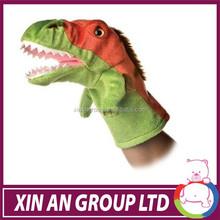 customized design high quality plush dinosaur hand puppet