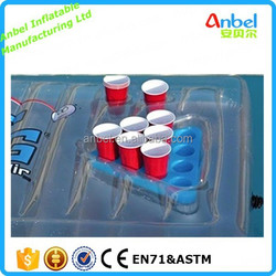 Inflatable Beer Pong Floating Pool Table for Pool Party