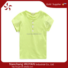 wholesale high quality solid fancy kids t -shirt