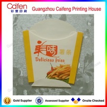 Directly manufacture cute delicious french fries food paper bag