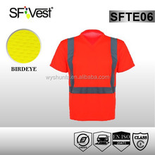 orange, lime, yellow reflective clothing hi-vis t-shirt for running or work