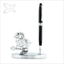 Newest Creative Chrome Plated Metal Ram Zodiac Pen Stand
