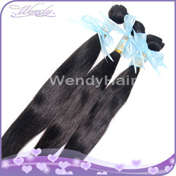 Indian temple human hair silky straight goddess remy hair weave