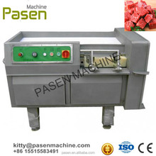 automatic beef chicken meat cube dicer machine