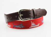 2015 embroidery genuine leather belt