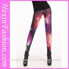 venta al por mayor de moda de alta apretado galaxy las mujeres polainas