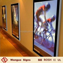 Portable wall mounted magnetic led light box by wanguo signs