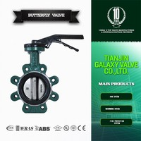 wafer lug type cast iron butterfly valve in tianjin