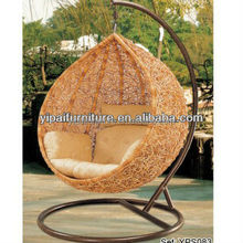 promotion!!PE rattan patio swing egg chair