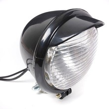 Universal Motorcycle Motorbike 25LED Headlight Black Case For Harley Chopper Bobber Custom