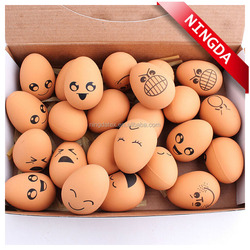 lovely pet toy stretch egg ball with different face