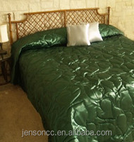 Milan Faux Silk Satin Quilted Bedspread