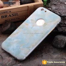 Marble and wood image 3D mobile phone case for iPhone 6S with aluminum bumper