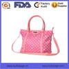 custom dot printed ladies handbags manufacture waterproof polyester handbags