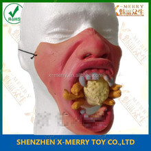 X-MERRY Vampire lower rubber half face party costume handcraft new design