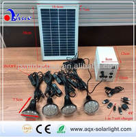 Portable solar system with light/lamp USB for indoor use MSD 02-11H